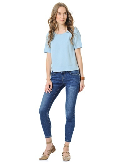 Jean Pantolon | Five Ankle - Skinny Push Up-Vero Moda
